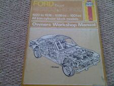 Ford Escort Mexico & RS 1600 Haynes Owners Workshop Manual Mark 1 1598cc 1601cc