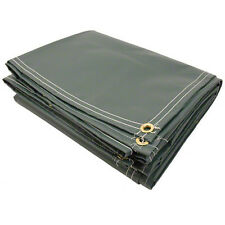 12' x 20' 10oz Vinyl Coated Polyester Tarp - Dark Green Color - Truck Covers