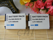 2pk EN-EL12 EN EL12 Battery For Nikon Coolpix S8000 S6150 S6200 S8200 S610 MH-65