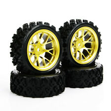 12mm Hex 4Pcs Rubber Tyre Wheel Rim DHG For RC 1:10 Rally Racing Off Road car