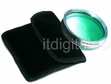 52mm Graduated Green Color Lens Glass Filter Screw-in Half Green Half Clear 52 m