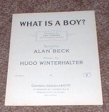 WHAT IS A BOY ? - JAN PEERCE - ALAN BECK - VINTAGE RARE  MUSIC SHEET