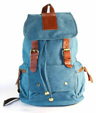 BLUE Canvas Backpack School Bag Upgraded Version Super Stylish!