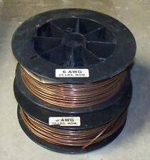 one 6 awg gauge unused solid copper bare wire 10 foot piece   more available