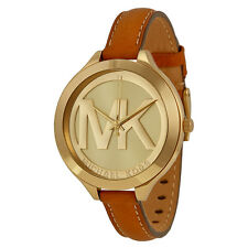 Michael Kors Slim Runway Tan Leather Strap Ladies Watch MK2326