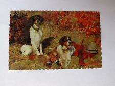 ADVERTISING POSTCARD THE BLANKET SHOP ESMDALE ONTARIO DOGS BIRDS HUNTING GUN