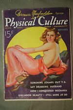vtg old PHYSICAL CULTURE Magazine fitness exercise body building fashion 1932 nv