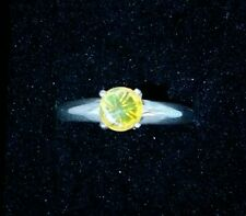 6mm Welo Opal ring in Argentium silver, size 7
