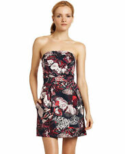 FRENCH CONNECTION Women's Size 8 STRAPLESS BUTTERFLY DRESS Summer Wings Wizard