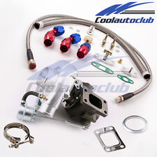 Universal Turbo for all 4 or 6 CYL 2.0L-3.5L Engines Oil Drain Return Feed Line