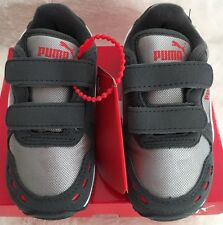 NIB Puma Cabana Racer Mesh V Toddler Shoes Gray US Size 10