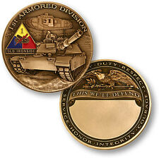 "NEW 1st Armored Division — ""Old Ironsides"" Challenge Coin. 60722."