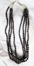 GRIGIO collana di perle d'acqua dolce 4 corde 45.7cm lungo, gancio gancetto