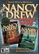 NANCY DREW DOUBLE DARE 2 The HAUNTED CAROUSEL + DECEPTION ISLAND PC Game NEW