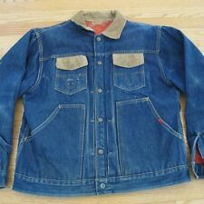 VINTAGE ORIGINAL PLEATED DENIM JACKET 1950's BUCKAROO BIG SMITH SIZE 48 XL