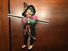 Hanging Christmas Witch Halloween Winter Broom