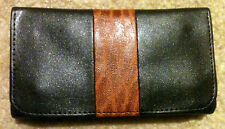 "Kingstar Black Bicast Leather  5 1/2"" Pipe Tobacco Pouch"