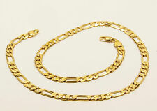 Women's or Men's 14 Carat Gold filled Figaro chain link necklace Jewellery