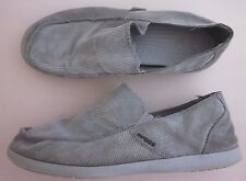 Crocs Men's Size 9 Santa Cruz Corduroy Ribbed Slip On Loafers Shoes Gray