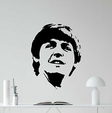 Paul Maccartney Wall Decal The Beatles Vinyl Sticker Music Art Decor Mural 78nnn