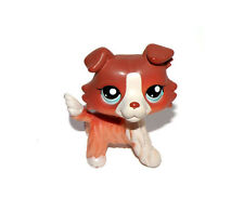 Littlest Pet Shop Brown Red White Puppy Collie Dog Doll Figure Child Toy UK