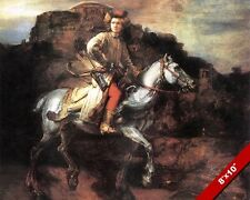POLISH HORSEMAN WARRIOR ARCHER SOLDIER PAINTING REMBRANDT ART REAL CANVASPRINT