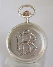 IWC SCHAFFHAUSEN präzision QUALITY 800 Silber Cal.53 Savonnette TASCHENUHR 1900