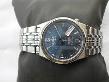 EXCELLENT Vintage SS CITIZEN MIDSIZE 32MM BUE DIAL Gents Automatic WristWatch