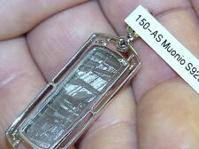 METEORITE MUONIONALUSTA SILVER PENDANT BEST GIFT FROM SPACE WITH MOLDAVITE