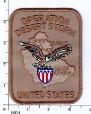 Operation Desert Storm UNITED STATES tan PATCH ! Army/USMC/USN/USAF Persian Gulf