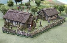 28MM DARK AGE 'SAXON HAMLET'  - PAINTED TO COLLECTORS STANDARD