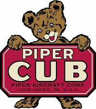 PIPER CUB BANNER - Vintage Logo  FREE SHIPPING