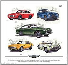 ASTON MARTIN (DAVID BROWN)  FINE ART PRINT - DB2/4 DB4 GT DB5 DBS V8 DB6 Volante