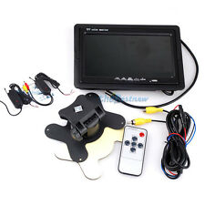 "7""TFT Wireless LCD Monitor W/ Car Rear View Parking Backup Camera Receiver NE#"