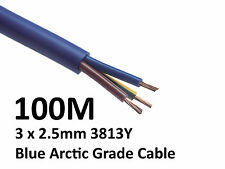 100M Arctic Blue 3183Y Flex Cable 3core x 2.5mm Outdoor Caravan Camping Artic