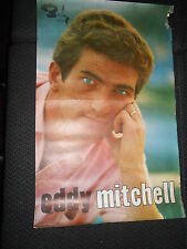 EDDY MITCHELL 60s RARE AFFICHE ORIGINALE FRENCH POSTER DISQUES BARCLAY