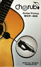 """Cherub WCP-60G Clip-On Acoustic Guitar Pickup, Six ft. Cable w/1/4"""" Male Jack"""