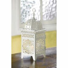 10 WHITE SCROLLWORK CANDLE LANTERN WEDDING TABLE CENTERPIECE NEW~38332