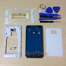Full Housing Case + Outer Screen Glass + Tools For Samsung Galaxy S2 i9100 White