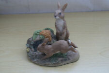 Heredities Rabbits Playing Sculpture - Signed  A Wynne 87 -  Excellent Condition