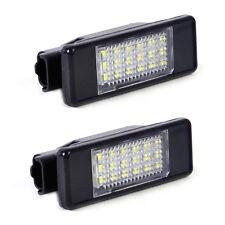 2pcs License Plate Light Lamp 18 LED For Peugeot 207 308 406 407 Citroen C2 C3