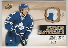 2014-15 Upper Deck 2 Rookie materials Patch Stuart Percy Toronto 12/25 2 color
