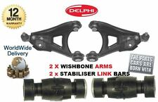 FOR RENAULT CLIO 1990-2005 2 x LEFT RIGHT WISHBONE ARM & 2 x STABILISER LINK BAR