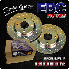 EBC TURBO GROOVE REAR DISCS GD411 FOR HONDA CIVIC CRX 1.6 1987-91