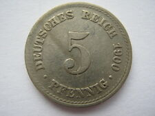Germany 1900-A 5 Pfennig.