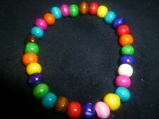 Multi-Coloured Bracelet, Wood Bead, Bright colours, Wooden beads