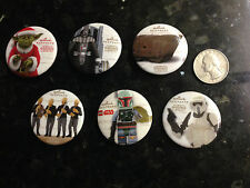 SDCC 2014 HALLMARK EXCLUSIVE STAR WARS BUTTONS SET PLUS HOLIDAY BONUS,ALL 5 DAYS