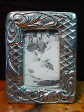 Silver Pewter Small ART NOUVEAU SWIRL Picture Frame