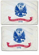 2x3 U.S. Army Crest White 2 Faced 2-ply Wind Resistant Flag 2x3ft