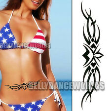 22.7 CM LONG STOMACH BELLY LOWER BACK TATTOO TEMPORARY BODY ART MAKEUP STICKER